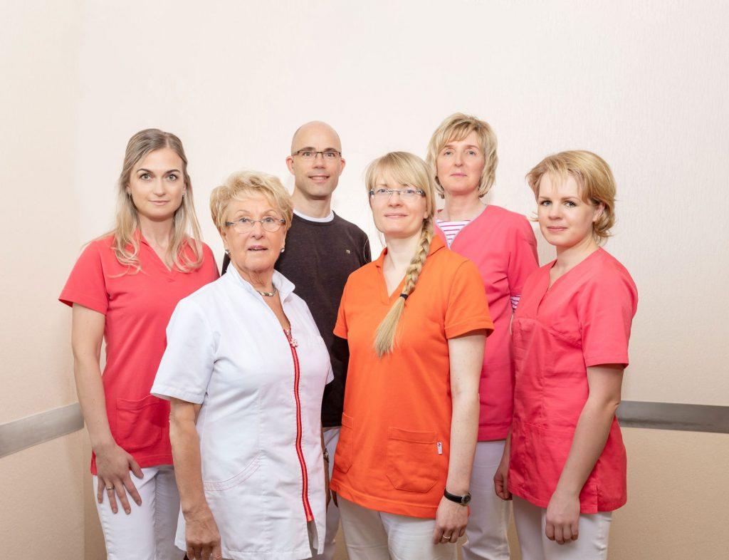 Team der Hausarztpraxis am Haff